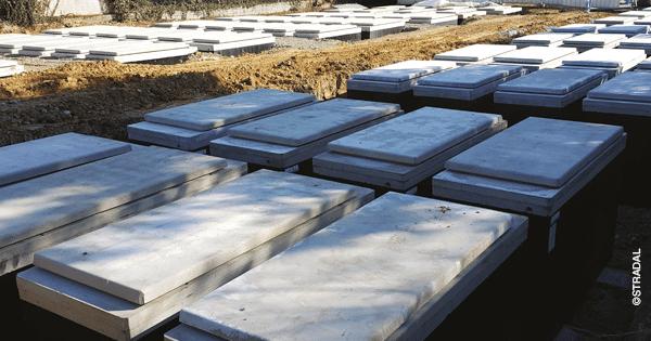 caveau monobloc NF avec renforcement de l'étanchéité pour zones humides. Fabricant Stradal