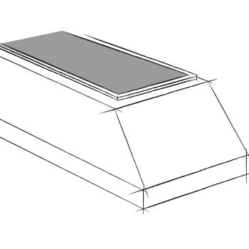 vide sanitaire en forme de trapèze pour caveau funéraire en éléments Stradal