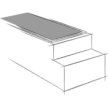 ouverture supérieure avec  réduction en nez de marche de l'élément supérieur utilisé comme vide sanitaire pour caveau en éléments. Stradal