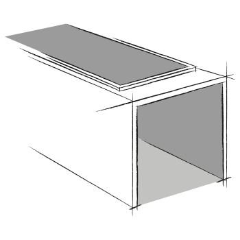ouverture mixte frontale et supérieure pour caveau funéraire en éléments. Fabricant Stradal