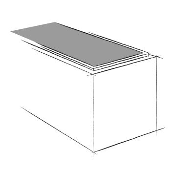vide sanitaire pleine ouverture pour caveau funéraire en éléments. Fabricant Stradal