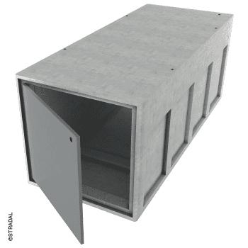 caveau provisoire dépositoire une place avec porte Stradal