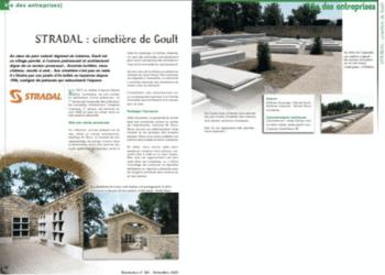 Article sur un équipement cinéraire et funéraire NF. Fabricant Stradal Funéraire
