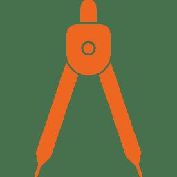icone compas geometre flaticon DinosoftLabs orange
