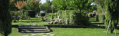 Dalle jardinet pour créer une tombe paysagère ou entourage pour y installer   un jardin japonais avec gravillons blancs