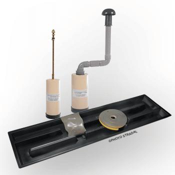 kit inhumation caveau funeraire NF filtre epurateur bac joint poudre stradal