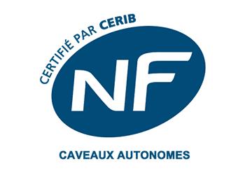 logo NF caveaux autonomes Fabricant STRADAL