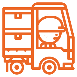 picto position du chauffeur dans son camion pendant le chargement. Stradal